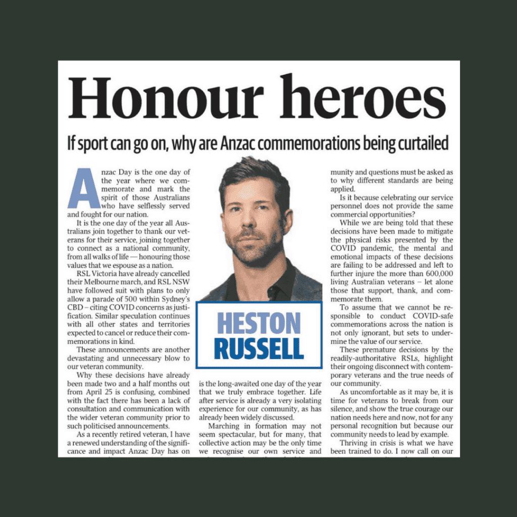 Honour Heroes Cover
